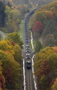 Keystone Coal Train by Norfolk Southern - West Virginia