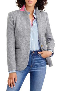 J.Crew Collection Campbell Donegal Wool Blazer (Regular & Petite)