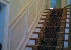Recessed panel wainscoting.