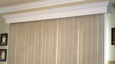 How to make cornice that covers vertical blinds