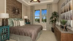 Elegant bedroom with just a touch of #Southwestern #style by Taylor Morrison at Enclave on the Eighth in Scottsdale Arizona. #southwest #southwestern #western #country #horse #equestrian #cowboy #rodeo #showseason #countryliving #lifestyle #Arizona #AZ #Scottsdale #west #countrywestern #home #decor