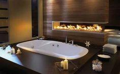Badezimmer Designs mit Einbaukamine