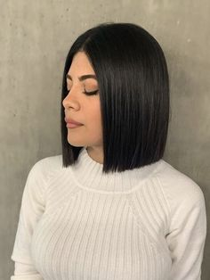 Blunt Hair, Haircuts, Hairstyles, Layered Bobs, Blunt Cuts, Hair Skin Nails, Bob Cut, Face And Body, Body Care