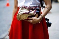 cuff, clutch, skirt- well done