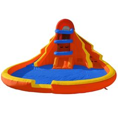 Double Water Slide Pool Bounce House Jumper Bouncer Inflatable with Blower