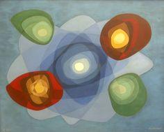 Oskar Fischinger (Abstraction #17  Oil on canvas, 1964)