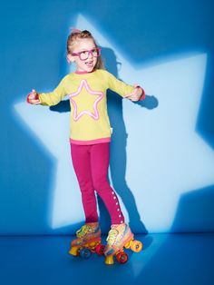 Neon Star Top | Girls clothing | limited edition organic clothing for children from Baobab Children