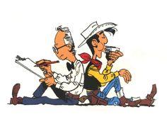 Morris et Lucky Luke Bd Comics, Funny Comics, Bd Lucky Luke, Bilal, Cartoon Crazy, Looney Tunes Cartoons, Western Comics, Ligne Claire, Morris