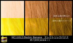 What stage of banana will you be? #Electricbanana #ManicPanic #ManicPanicJapan #Yellowhair See how the color shows up on darker shades of blonde.