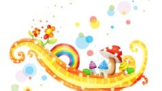 Free Rainbow Wallpaper For Computer Rainbow Backgrounds and