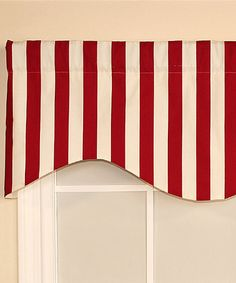 Red Patio Stripe Cornice Valance #zulilyfinds
