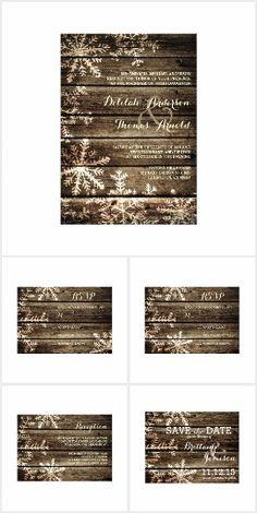 Snowflake Barn Wood | Winter Wedding Collection