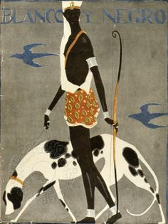 Cover of White and Black Magazine. Date: c1920