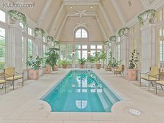 Grand French Chateau On 90 Acres - $35,000,000 - 1851 Turbeville Road, Hickory Creek, TX  75065 USA - interior - the pool