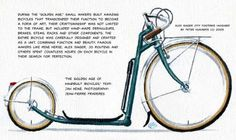 We've seen modern city bikes; here's an earlier example from one of the master builders of France - Alex Singer.