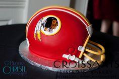 Red Skins Helmet Cake by Croissants Bistro & Bakery