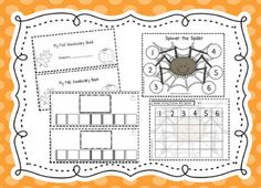 Can Do Kinders: spider spinner game and fall booklet printable