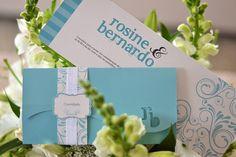 Casamento civil: Rosine e Bernardo {Papelaria personalizada} #invitation #wedding #bluetiffany