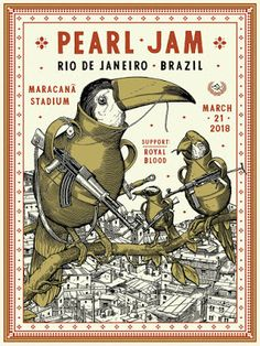 Movie Posters : Pearl Jam Rio Print By Ravi Zupa Release https://ift.tt/2GcelqU