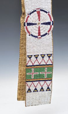 Sioux beaded blanket strip, circa 1880, selling in November www.fairfield Auction.com