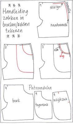Handige uitleg over zakken in broeken/rokken