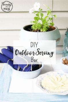 If I want guests to gather here, I need to create spaces that make hospitality simple.  This DIY Outdoor Serving Bar is designed to do just that. via @wdcornelison
