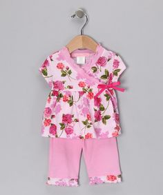 Take a look at this Pink Romance Wrap Top & Leggings - Infant by Baby Nay for #fall on #zulily today!