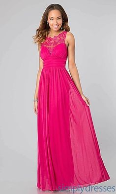 Long Pink Sleeveless Dress at SimplyDresses.com US99 fusia coral mint black thin strap back
