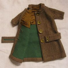 "Early 1900s Wool Doll Coat for Antique Doll 24""-26"""