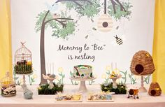 Mommy to Bee Dessert Table {Cute idea for a Baby Shower}