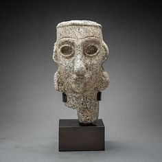 Sabean Granite Head of a Woman - Origin: Yemen Circa: 600 BC to 100 BC Dimensions: high x wide Collection: Biblical Antiquities Medium: Granite Condition: Restored Ancient Egypt History, Ancient Art, Ancient Near East, Biblical Art, Precious Metals, Old Things, Sculpture, Stone, Antiques