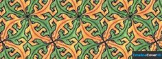 Yellow And Green Lizard Pattern Facebook Cover Timeline Banner For Fb73 Facebook Cover