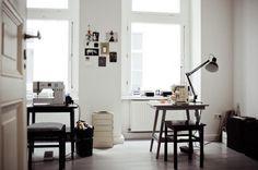 Ines' textile studio in Berlin.