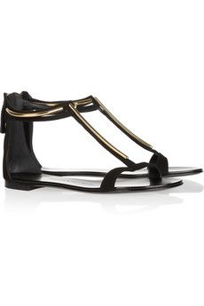 GIUSEPPE ZANOTTI  Metal-trimmed suede sandals