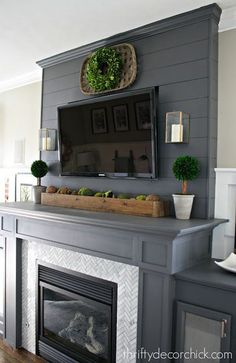 Where to buy Magnolia Homes farmhouse style for way less! # fireplace makeover, Where to buy Magnolia Homes farmhouse style for way less! Fireplace Redo, Fireplace Remodel, Fireplace Design, Shiplap Fireplace, Fireplace Makeovers, Fireplace Hearth, Fireplace Inserts, Tv Over Fireplace, Renovate Fireplace
