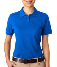 UltraClub Women's Wrinkle Resistant Polo Sport Shirt, Royal, Small UltraClub. $11.86