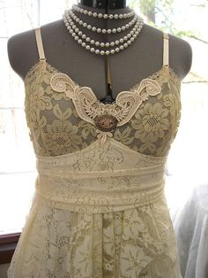 Butter cream ivory alternative prom bride tattered by LilyWhitepad