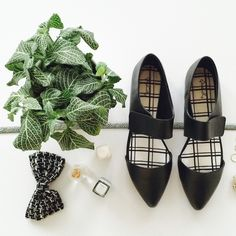 Black Faux Leather Mary Jane Ballerina Flats Mary Jane Ballerina Flats with Ankle Strap | D'Orsay Pointed Toe Flats in Black  Pointy toe D'Orsay silhouette Mary Jane strap closure Cushioned insole Faux (vegan) leather   * New in box * Fits true to size Shoes Flats & Loafers