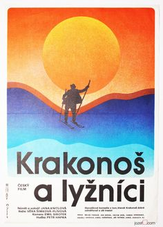 Minimalist poster design for 1981 kids tale set in Krkonose mountains by Miloslav Disman, Price: 23.00  | No postage on 2 or more posters | #SkiPoster #MoviePoster #Minimalist #KidsPoster