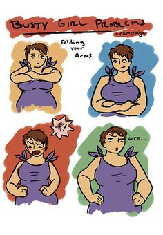 Busty Girl Problems: Folding your arms
