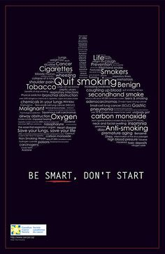 poster awareness smoking Anti Smoking, You Are Smart, Health Promotion, Insomnia, Save Yourself, Cancer, Smoke, Motivation, Filters