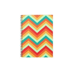 Notebook Retro Zig Zag Chevron Pattern  http://www.zazzle.com/notebook_retro_zig_zag_chevron_pattern-130940960893975622
