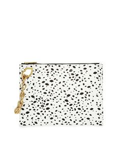 Image 1 ofLulu Guinness Hug & Hold Clutch in All Over Speckle Print