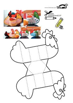 plantilla manualidades gallina pascua. easter craft