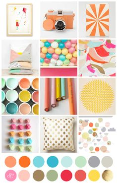 love this sugar rush color inspiration with oranges and yellows.
