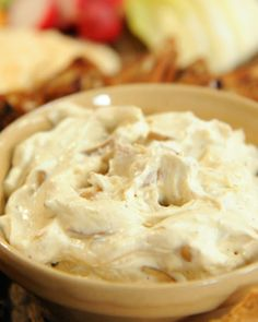 "World's Greatest Onion Dip _ Fans of Kors d'Oeuvres founder Korey Provencher have deemed this creamy onion dip the ""world's greatest""."