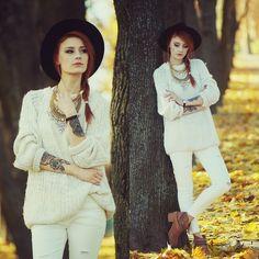 Katarzyna Konderak - Sh Sweater, H&M Shoes, Romwe Pants, Necklace - Big sweater. | LOOKBOOK