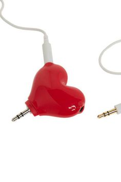 Such a cute idea! Headphone splitter for you and your honey. :)