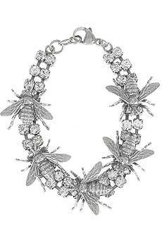 Tom Binns Bee hive bracelet Sterling silver bee hive bracelet with diamante gem Bee Jewelry, Insect Jewelry, Vintage Jewelry, Jewelry Accessories, Jewelry Design, Jewellery, Hives And Honey, Honey Bees, Tom Binns