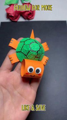 Paper Crafts Origami, Fun Diy Crafts, Paper Crafts For Kids, Easy Crafts For Kids, Craft Activities For Kids, Diy Arts And Crafts, Creative Crafts, Preschool Crafts, Hand Art Kids